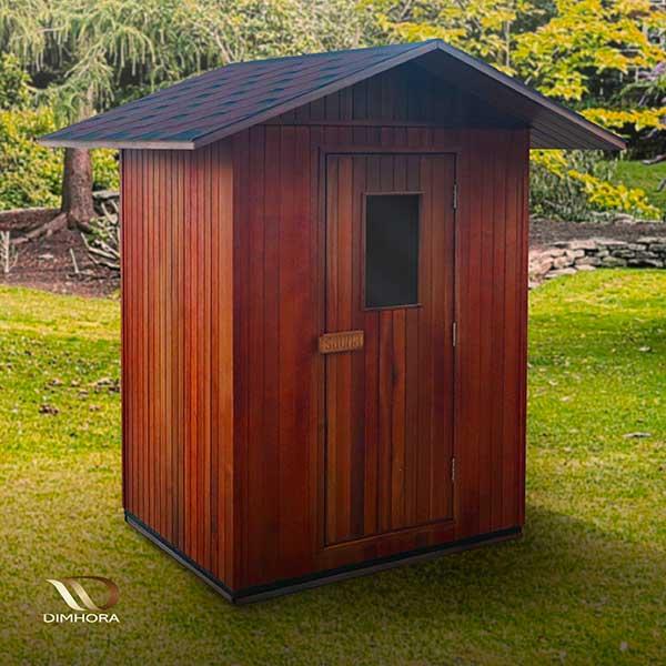 Sauna da esterno in giardino