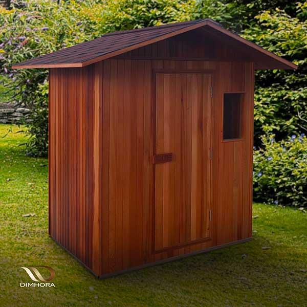 Sauna da esterno in mezzo alla natura